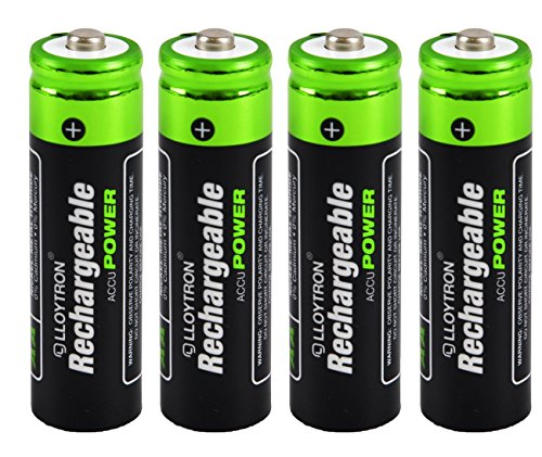 4 X Lloytron Taille AA 800 mAh NiMH Accu Ultra rechargeable batteries