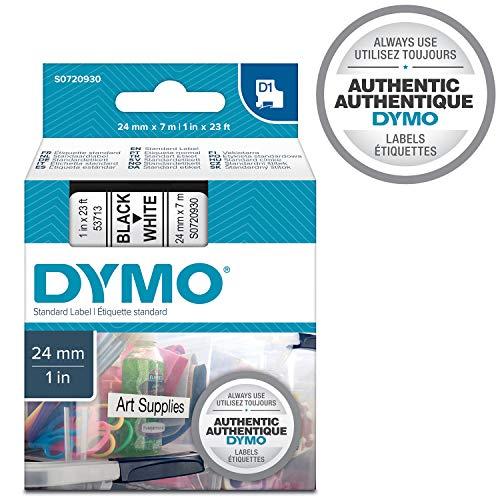 DYMO D1-Etiketten selbstklebend (schwarzer Druck auf weißem Untergrund, 24 mm x 7 m, für LabelManager-Etikettendrucker, authentisches Produkt)