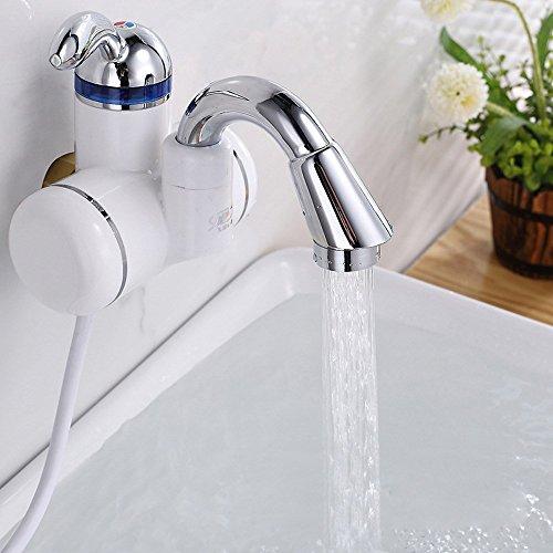 SAEJJ-Riscaldatore di acqua elettrico tipo deposito calore riscalda l'acqua del rubinetto Rubinetti cucina velocità Po,B