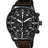 Citizen of Quartz Watch, Eco Drive B612, 44 mm, Leather Strap, CA0695-17E
