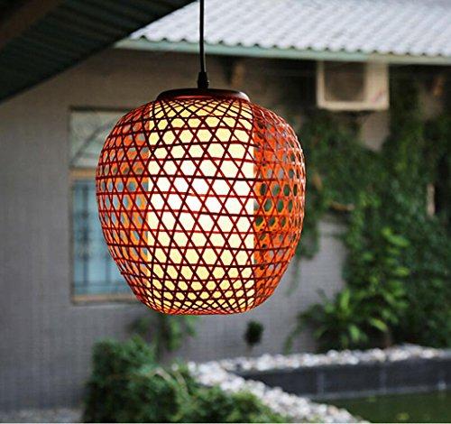 ZHDC® Restaurant Kronleuchter Gang Restaurant Eingang Bambus Licht Hand Lampe Japanische Kunst Beleuchtung E27 Stark Antioxidans -