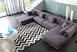 ALUK-Minimalista moderna sala de estar del sofá del dormitorio alfombra antideslizante acanalada