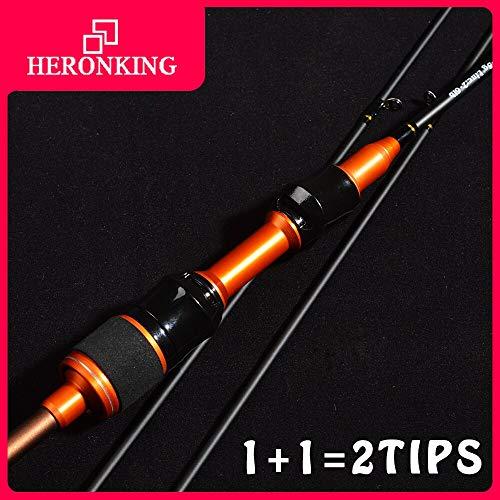 Heeydaa 1,68/1,8 m Carbon ul Spinnrute 1-5 g Locken leichte ultraleichte Spinnruten mit einem Gewicht von 2 bis 6 Pfund an