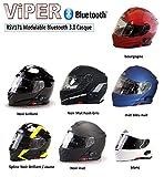 VIPER RS-V171 BLUETOOTH AUFKLAPPBAR VORNE MOTORRAD HELM - Schwarz, Medium