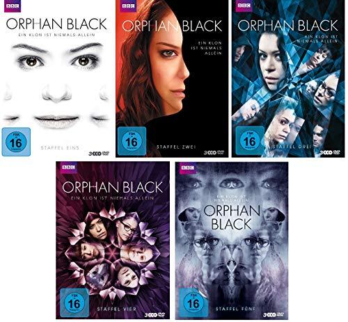 Orphan Black - Staffel 1-5 im Set - Deutsche Originalware [15 DVDs]