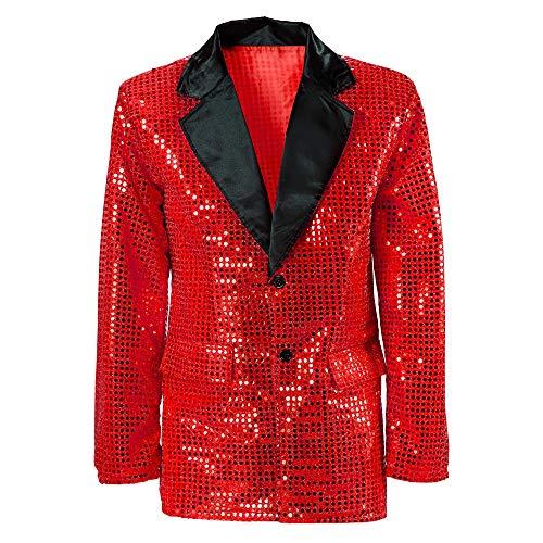 WIDMANN 8789G Pailletten Jacke mit Samtaufschlag, XL