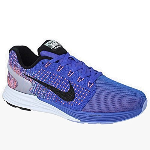 Nike Damen WMNS Lunarglide 7 Flash Laufschuhe Blau (RCR Blue/Blk-Hypr Orng-Chlk Bl) 37.5 EU