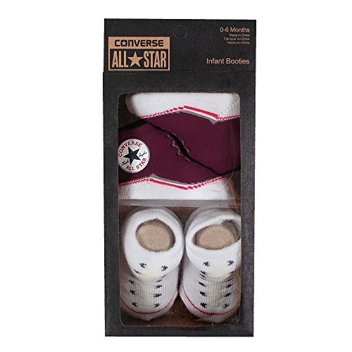 Converse Baby 2 piece Gift Set Infant booties Red Block