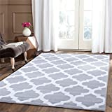 """A2Z RUG Trellis Rugs Silver 60x230 cm - 2'x7'5"""" ft Trendy Collection without borders Area Rug"""