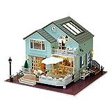 Oshide Puppenhaus Süß DIY House mit Licht Musik als Kinder Geschenk (Grüne Villa)