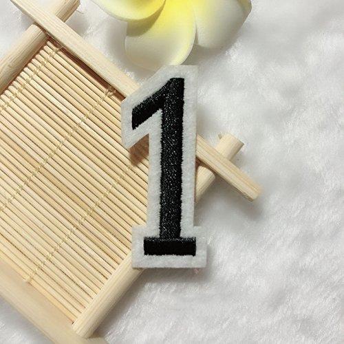 1 parche bordado número 0 para ropa