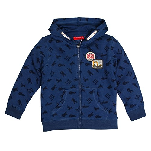en Jacke Jacket Huge Machine Allover, Blau (Nordic Blue Melange 476), 104 (Kinder Winter Handwerk)
