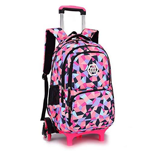 Xhhwzb zaini a rotelle di viaggio della borsa di scuola del carrello dello zaino a ruote della ragazza (colore : d)