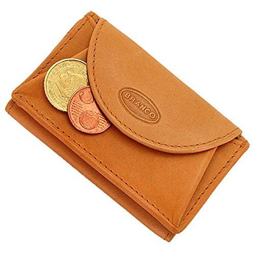 Branco Mini Herren Leder Geldbörse Portemonnaie Börse GB (Natur) -