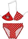 Unbekannt Bikini -  Disney Minnie Mouse  - Größe 6 bis 7 Jahre - Gr. 122 bis 134 - für Mädchen Kinder - Rot / Zweiteiler - Zweiteilig - Playhouse Mickey Maus Mäuse Rote Punkte / Gepunktet - Badeanzug