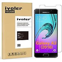 Samsung Galaxy A3 (2016) Protector de Pantalla Cristal, iVoler® Film Protector de Pantalla de Vidrio Templado Tempered Glass Screen Protector para Samsung Galaxy A3 (2016) SM-A310F -Dureza de Grado 9H, Espesor 0,20 mm, 2.5D Round Edge-[Ultra-trasparente] [Anti-golpe] [Ajuste Perfecto] [No hay Burbujas]- Garantía Incondicional de 18 Meses