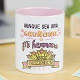 La Mente es Maravillosa | Taza cerámica de café o desayuno | Regalo para la mejor HERMANA | RESISTENTE 100%...