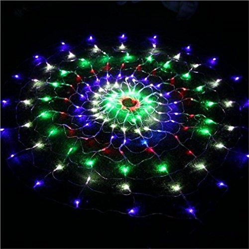 HappyBeauty 1.5mx1.5m 160 LED Circular Net Lights Wasserdichte Spider Fairy Lights für Weihnachtsbaum Party Indoor Outdoor