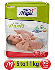 Little Angel Baby Diaper Pants, Medium-56 Count