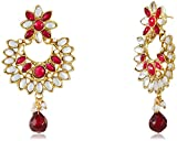 Ava Red Metal Dangle & Drop Earring For ...