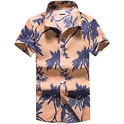 LHWY Camisas Hombre Manga Camisa Corta con Estampado Hawaiano para Hombre Playa Deportiva Blusa de Secado rápido Blusa Superior - 2019 última Camisa Casual cómoda, XL