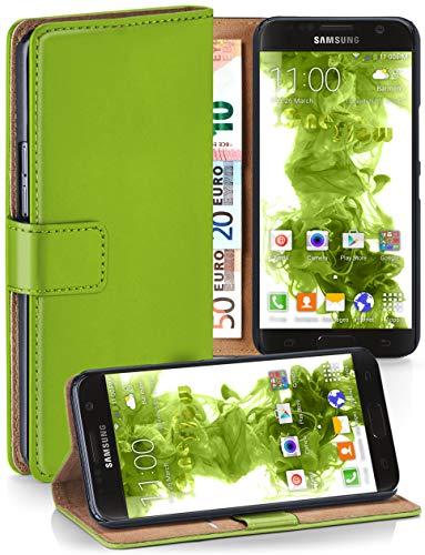MoEx® Booklet mit Flip Funktion [360 Grad Voll-Schutz] für Samsung Galaxy S7 | Geldfach und Kartenfach + Stand-Funktion und Magnet-Verschluss, Grün