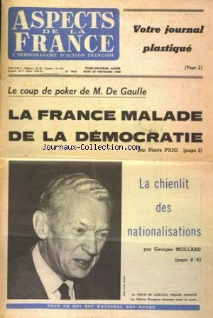 ASPECTS DE LA FRANCE [No 1054] du 28/11/1968