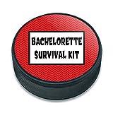 hockey sur glace palet Célébration de mariage Mariage, Bachelorette Survival Kit Chevrons Red