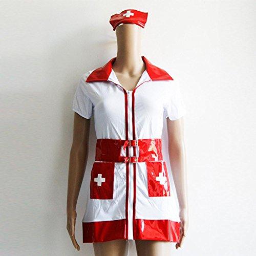 DuuoZy Frauen Sexy Krankenschwester Babydoll Kleid Dessous Cosplay Kostüm Uniform Sets , white , one size (Exotische Meerjungfrau Kostüme)