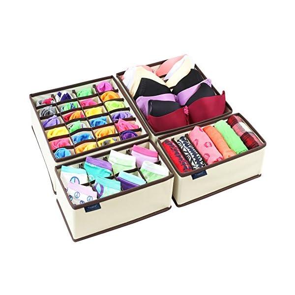 vendita calda negozio di sconto alta moda Ticent, scatola pieghevole con divisori per armadi e cassetti, per ...