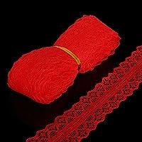 LUFA 5 Yardas 28mm Ancho Suave de Encaje Bordado de Tela Bordado Red Decorativo de Encaje Cinta Fiesta Decoración de La Boda Ropa de Arte
