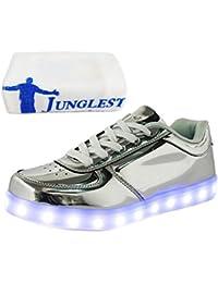 (Present:kleines Handtuch)Silber EU 43, Unisex-Erwachsene für Farbe Aufladen (TM) mode Herren JUNGLEST® Sportschuhe Sneaker Turnschuhe Leuchte
