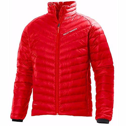 Helly Hansen para hombre Verglas con capucha aislante abajo chaqueta, hombre, color Rojo (Alert red), tamaño medium