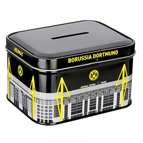 Borussia Dortmund Metallspardose / Spardose / Sparbüchse BVB 09 plus gratis Aufkleber forever Dortmund
