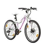 BIKE SPORT LIVE ACTIVE 24 Zoll Bikesport Hunter Jugend Fahrrad Jungenfahrrad Kindefahrrad Kinderrad Mädchenfahrrad, Shimano 21 Gang (Weiß)