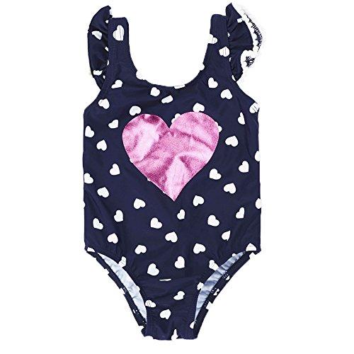 3f7119431046 7-Mi Baby Girls Cute Love Pattern Swimwear Una Pieza de baño 5Yrs Traje de  baño para niños