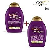 ogx® (ehemals Organix) Thick & Full Biotin Collagen SHAMPOO 385ml + CONDITIONER / SPÜLUNG 385ml - für dichteres und glänzendes Haar