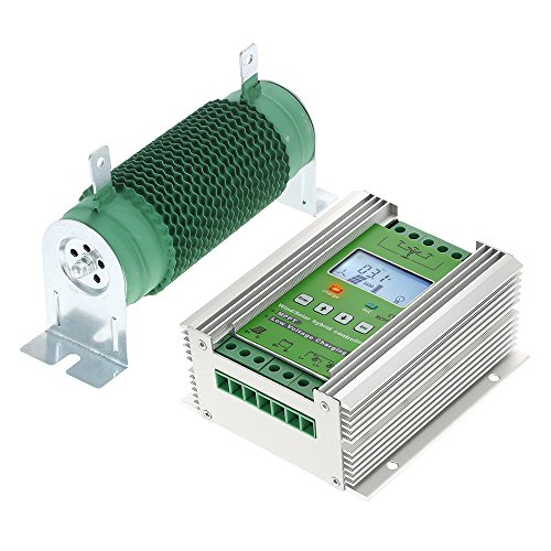 Anself Hybrid Solar Wind Laderegler MPPT Solarladeregler Windladeregler mit LCD Diaplay 12V/24V