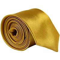 CellDeal Skinny Slim Mens Wedding Solid Plain Necktie Color Tie