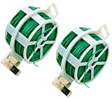 2er Twist Tie with The Built-in Cutter, Used As Cable Ties/ Recyclables, Multi-Use for Securing Plants or Electrical Appliances During Bad Weather / Useful Item in Your Tool Bag and Your Home (100M /328 Feet Pro Roll)