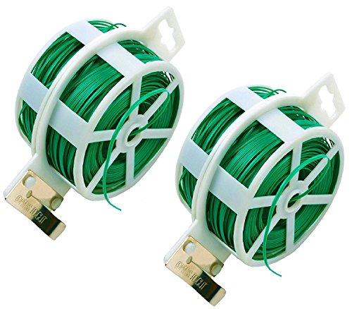 2er Bindedraht mit Eingebauten Cutter, Verwendet Als Kabelbindern / Recyclables, Sicherung Von Pflanzen Oder Elektrogeräten Bei Schlechtem Wetter / Nützliche Artikel in Ihrem Werkzeug Tasche und Hause (100m/Roll)