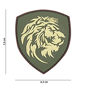 Patch 3D PVC Bouclier Lion Multicam / Cosplay / Airsoft / Camouflage