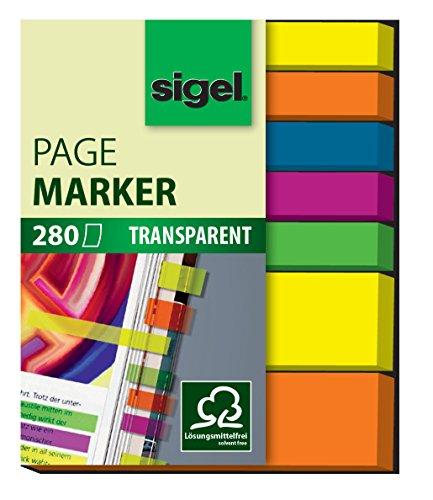 Sigel HN616 Haftmarker Film, 280 extra schmale Streifen im Format 6 bzw 12 x 50 mm - weitere Modelle (Tool-box-modell)