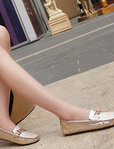 ZQ Scarpe Donna - Ballerine - Ufficio e lavoro / Casual / Serata e festa - Ballerina / Barca - Piatto - Di pelle / Tulle -Blu / Rosa / , golden-us8 / eu39 / uk6 / cn39 , golden-us8 / eu39 / uk6 / cn39 golden-us8.5 / eu39 / uk6.5 / cn40