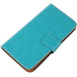 PREVOA Flip PU Housse Coque Protection Case pour Echo Note Smartphone Ecran 5,5 pouces - Bleu -