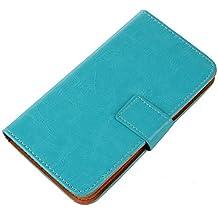 PREVOA® 丨Flip PU Case Protictive Funda para Energy Sistem Phone Pro HD - Smartphone 5,0 pulgadas - Azul -