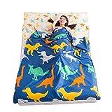 Schlafsack für Outdoor-Reisen, Wandern, Hotel, Picknick, Baumwolle, tragbar, Reisen, Schlafsack für Camping & Outdoor Dinosaur Baby 120 * 215