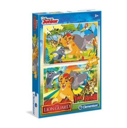Clementoni - 2 Puzzles De 20 Pièces La Garde Du Roi Lion