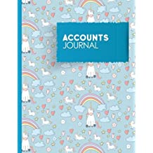 Accounts Journal: Accounting Journal Entry Book, Bookkeeping Ledger Sheets, Journal Entry Book, Cute Unicorns Cover: Volume 65 (Accounts Journals)