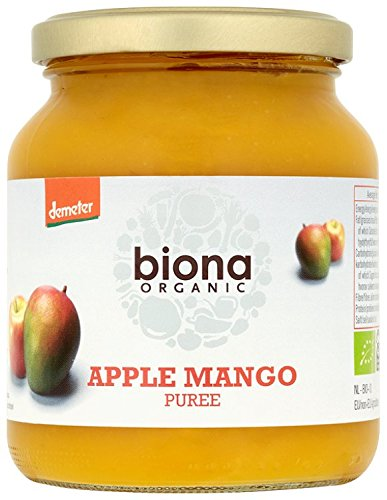 Biona Organic Apple and Mango Puree 350 g (Pack of 6)